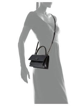 Sharp Aj Xs Leather Top Handle Bag by Balenciaga