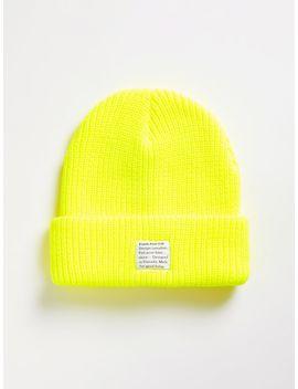 Acrylic Beanie In Neon Yellow by Frank & Oak
