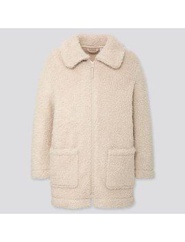 Girls Fluffy Fleece Coat by Uniqlo