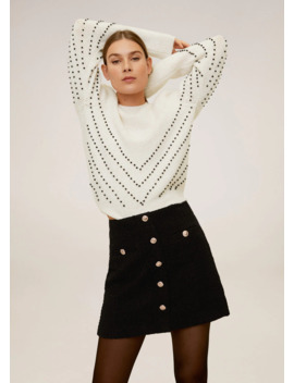 Pull Over Perles Et Sequins by Mango