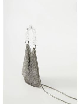 Tasche Aus Metallic Mesh by Mango