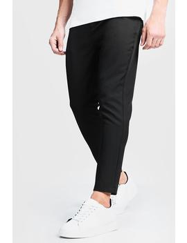 Plain Smart Cropped Jogger Pants by Boohoo