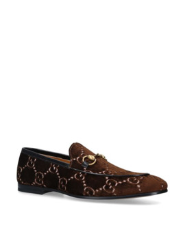Velvet Gg Supreme Loafers by Gucci