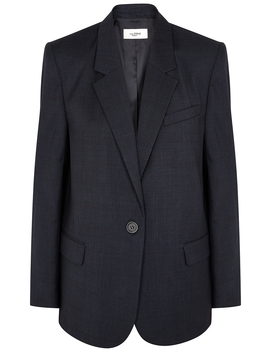 Verix Navy Checked Blazer by Isabel Marant Étoile