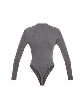 Charcoal Grey Weekend In New York Slogan Bodysuit by Prettylittlething