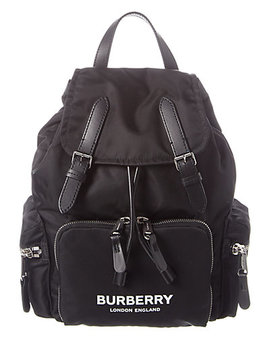 Burberry Medium Logo Print Rucksack by Burberry