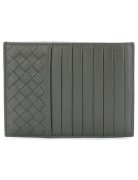 Woven Texture Card Holder by Bottega Veneta