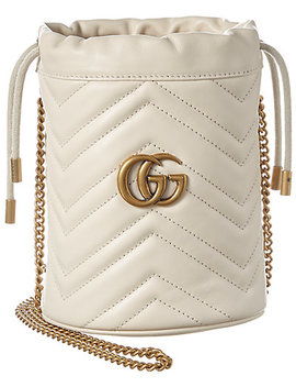 Gucci Gg Marmont Mini Matelasse Leather Bucket Bag by Gucci