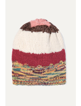 Striped Ribbed Knit Beanie by Missoni