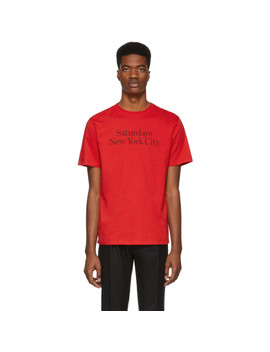 Red Miller Standard T Shirt by Saturdays Nyc