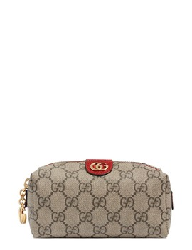 Mini Ophidia Canvas Cosmetics Pouch by Gucci