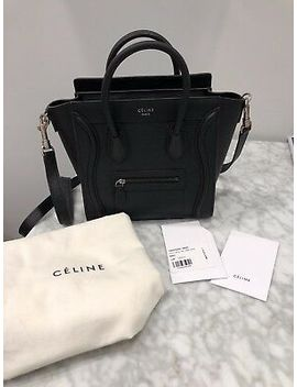 New Authentic Black Celine Nano Luggage Tote, Never Been Used, With Tags & Bag by Ebay Seller