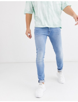 Jack & Jones Intelligence Skinny Fit Stretch Jeans In Light Blue by Jack & Jones