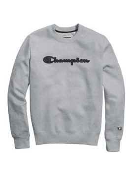 Champion® Men's Super Fleece 2.0 Crew, Quilted Logo by Champion