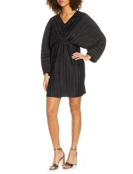 Long Sleeve Crinkle Pleat Cocktail Dress by French Connection