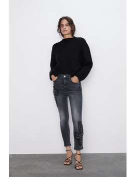 Z1975 Skinny Jeans With AppliquÉ by Zara