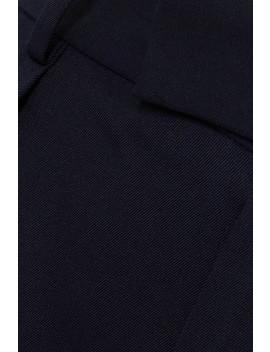 Pleated Grain De Poudre Wool Wide Leg Pants by Jw Anderson