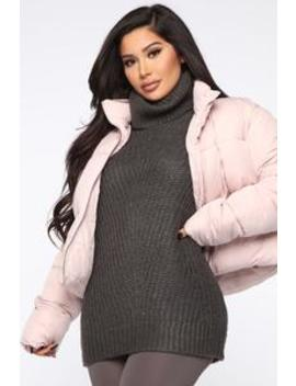 Keep It Warm Puffer Jacket   Pink by Fashion Nova