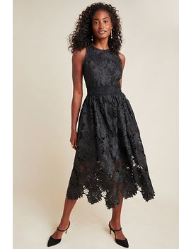 Shoshanna Chantal Daisy Lace Midi Dress by Shoshanna