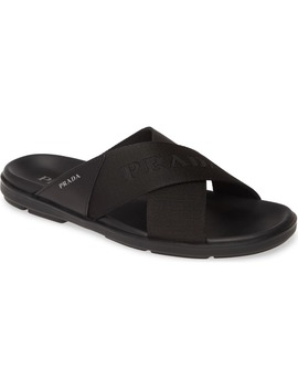 Spazzolato Slide Sandal by Prada