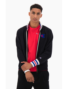 Ringer Trim Reverse Weave Bomber Jacket by Champion