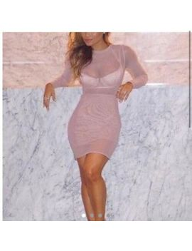 House Of Cb/ House Of Celebrity Boutique Small Nude Mesh Taviana Dress Rrp £79 by Ebay Seller