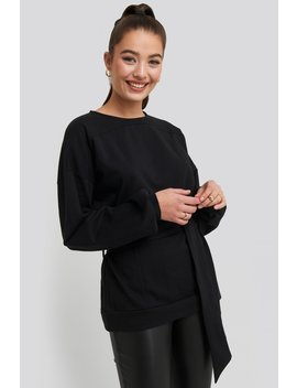 Yoke Fitted Sweater Black by Na Kd Trend