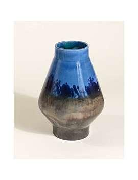 Mariana Blue Ceramic Vase by Olivar Bonas