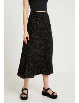 Spot Split Side Skirt   Maxi Skirt by New Look