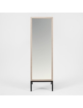 """66""""X20"""" Oak And Metal Modern Floor Mirror Brown   Project 62™ by Project 62"""