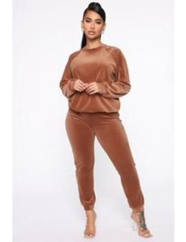 Such A Softie Velour Jogger Set   Coco by Fashion Nova