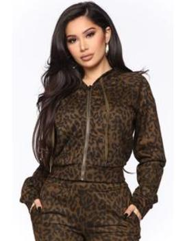 Animal Behavior Zip Up Hoodie   Brown/Combo by Fashion Nova