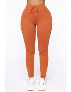 Me Myself And I Leggings   Rust by Fashion Nova