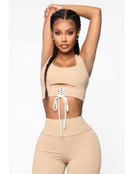 All Tied Up Right Now Crop Top   Mocha by Fashion Nova