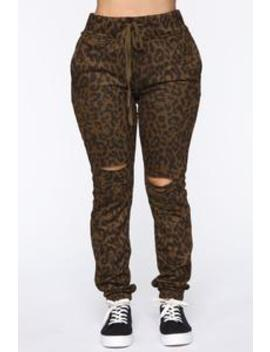 Animal Behavior Jogger   Brown/Combo by Fashion Nova