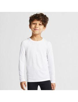Kids Heattech Extra Warm Crew Neck Long Sleeve T Shirt by Uniqlo