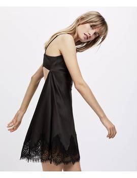 Camicia Da Notte Con Bretelle Essential Lace by Oysho