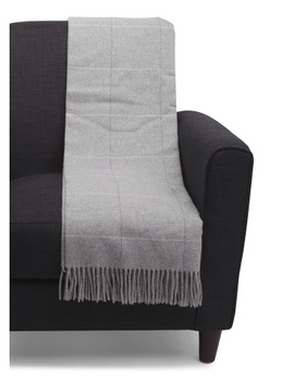 Made In Italy Wool Blend Windowpane Throw by Tj Maxx