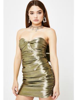 Gold Juliette Strapless Mini Dress by For Love & Lemons
