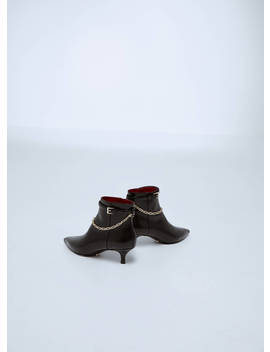 Leather Ankle Boots With Removable Chain by Uterqüe