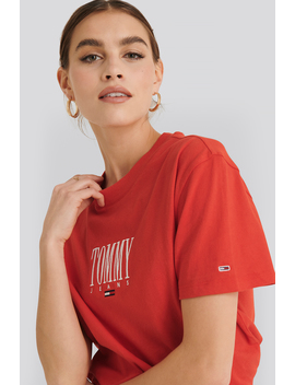 Tommy Jeans Emroidery Graphic Tee Rood by Tommyjeans