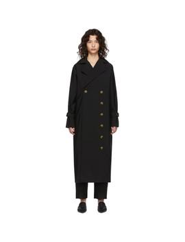 Black Pisa Trench Coat by TotÊme
