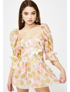 Rose Madame Brocade Babydoll Dress by For Love & Lemons