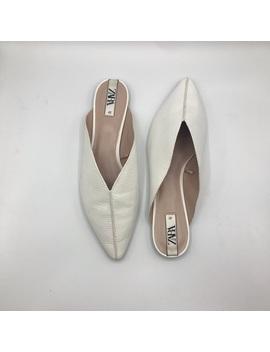 White Zara Mules, Size 41 by Zara