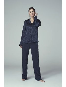 Satin Animal Jacquard Pj Set by Long Tall Sally