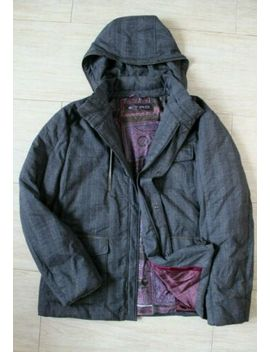 Etro Mens Plaid Hooded Down Coat Jacket Sz 2 Xl Xxl by Etro