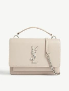 Sunset Leather Shoulder Bag by Saint Laurent