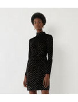 Foil Spot Velvet Bodycon Dress by Warehouse