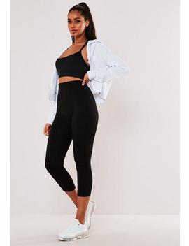 Active Black Fleece Lined Leggings by Missguided