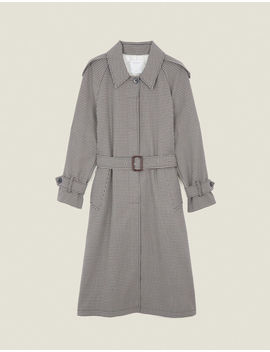 Trench Coat With Side Slits by Sandro Paris